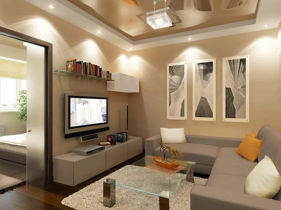 практически дизайн небольшой гостиной комнаты фото украинской