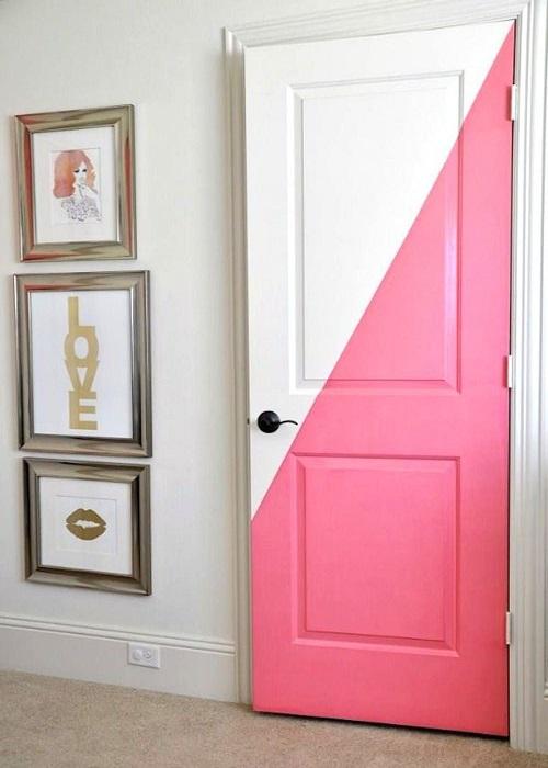 как красиво покрасить двери межкомнатные фото нужную шапочку