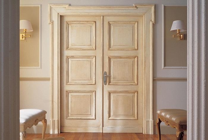 Краска для межкомнатной двери с филенчатыми створками