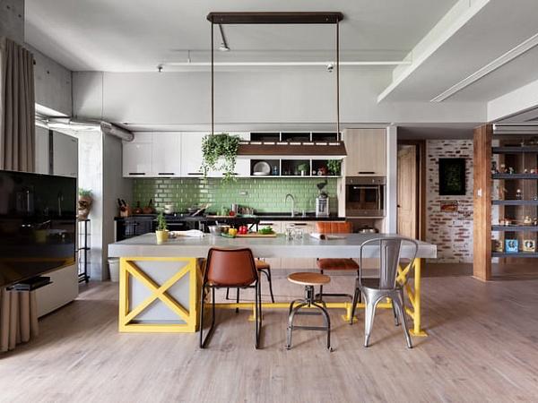 Кухня-гостиная в стиле лофт: не только удобно, но и стильно